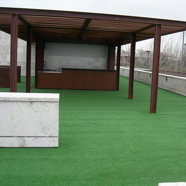 Césped instalaciones deportivas